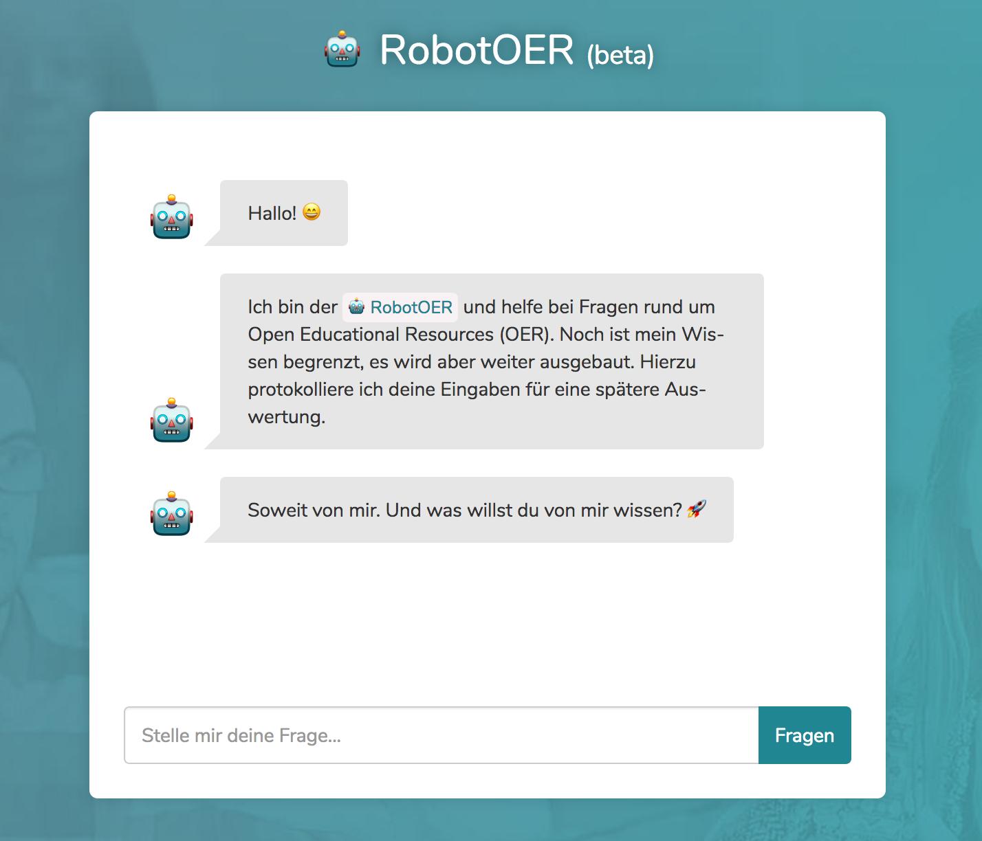 Screenshot des OERbot.